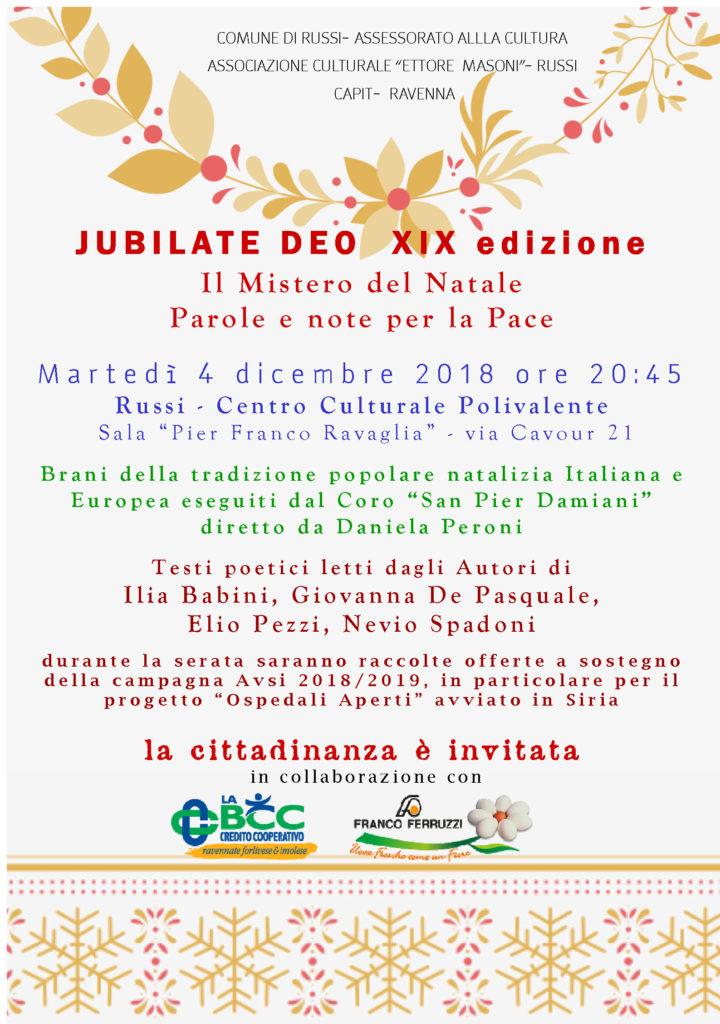 JUBILATE DEO XIX EDIZIONE